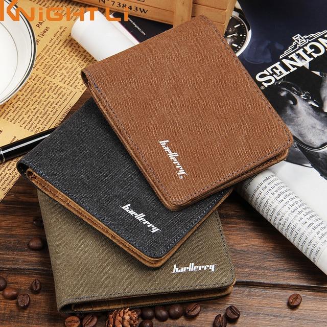 New arrival brand short men's wallet high quality Designer's canvas brief purse for male cute purse N455 шампуни estel шампунь для волос estel beauty hair lab aurum 250 мл