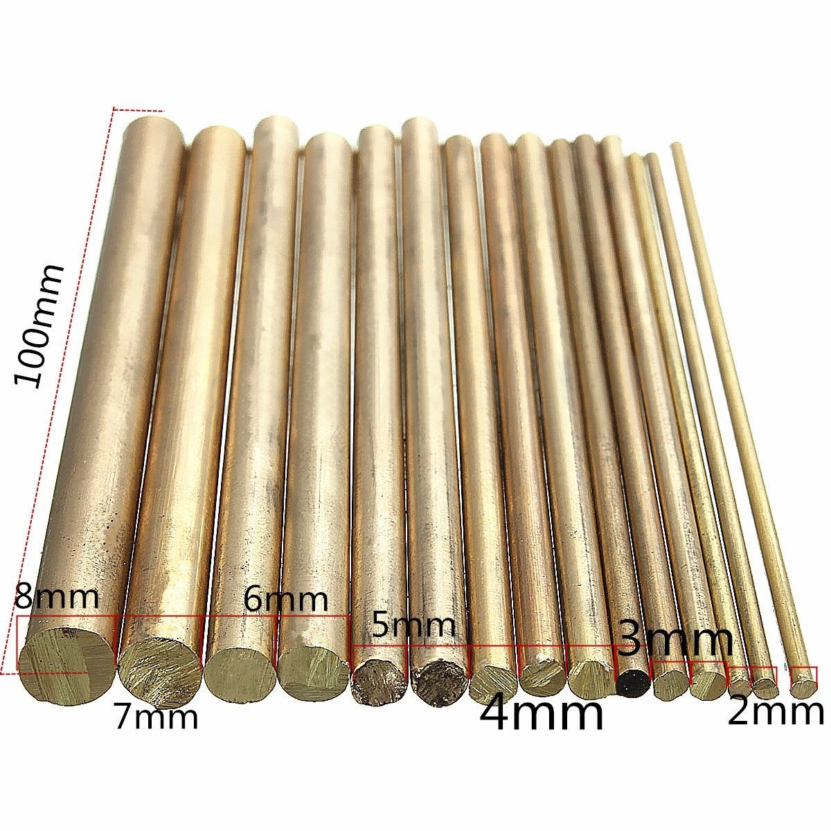 15pcs Copper Brass Round Rods Shafts Bar Watchmaker Lathe Watch Tool Craft Parts Mayitr For DIY Craft Making 100mm Length 16pcs professional watch repair kit for watchmaker