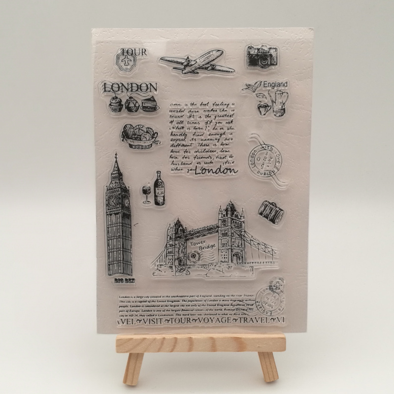 London Tower Transparent Stencil For DIY Scrapbooking Card Making/Kids Christmas Fun Decoration Supplies