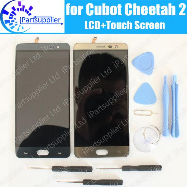 Prix pour Cubot Guépard 2 Écran lcd + Écran Tactile 100% D'origine LCD Digitizer Verre de Remplacement Du Panneau Pour Cubot Guépard 2 + outils + adhésif