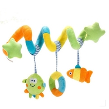 FlyingTown high quality Baby toy Crib Revolves Around The Bed Stroller Playing Toy Lathe Hanging Rattles