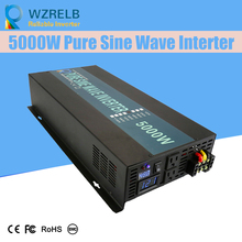 цена на Reliable Pure Sine Wave Inverter UPS and charging function 5000W outdoor home frequency inverter with charger