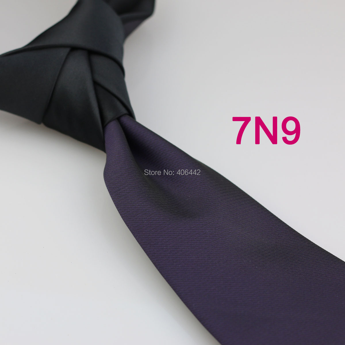 Yibei Coachella Ties Patchwork Black Knot Corbata Contrast Formal Neckties Woven Purple Neck Tie Two Tone Gravata Wedding Dress Men's Ties & Handkerchiefs
