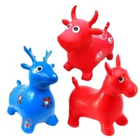 Inflatable Bouncer Jumping Rides on Animal Bouncy Horse Toys Child Kids Rubber Deer Gift Toys
