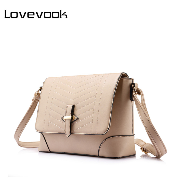 LOVEVOOK women fashion women messenger bags female small crossbody shoulder  bags high quality solid artificial leather 64786a811965
