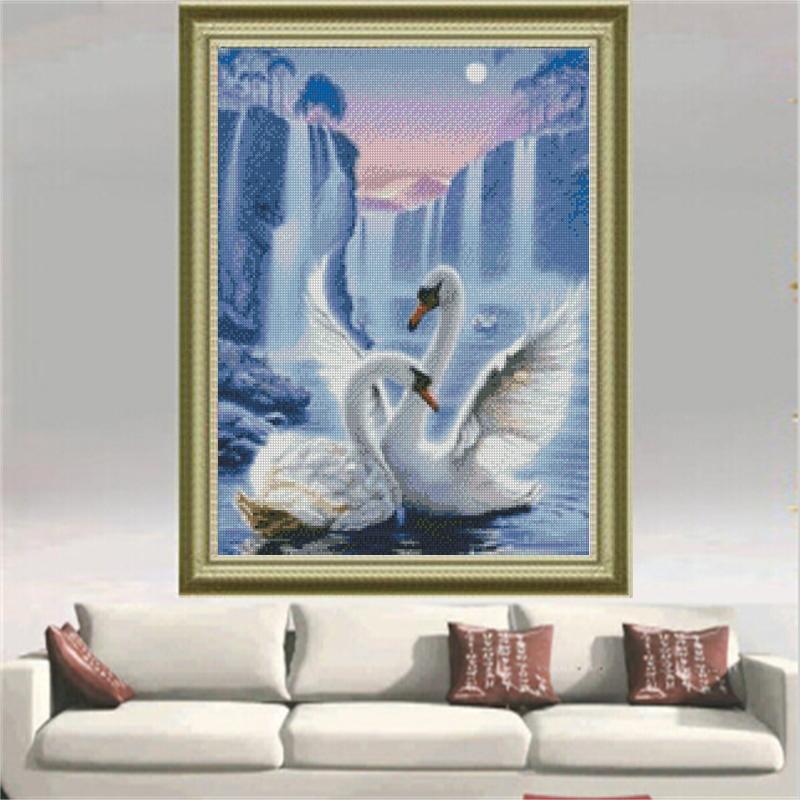 Diy dimanta glezna Ūdenskrituma krustdūrienu komplekts izšūšana - Māksla, amatniecība un šūšana - Foto 6