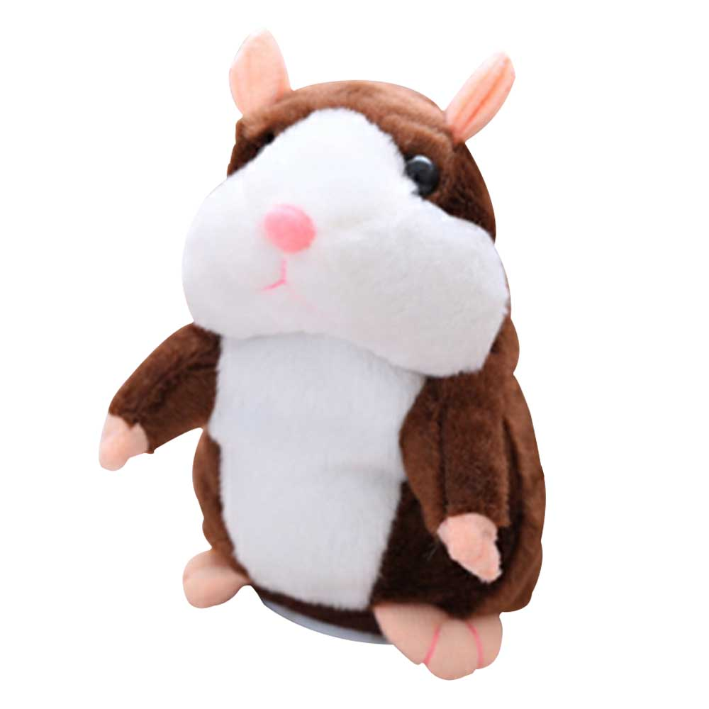 Talking Hamster Plush Toy Sound Record Children Gift 2018 talking hamster mouse pet plush toy learn to speak electric record hamster educational children stuffed toys gift 15cm