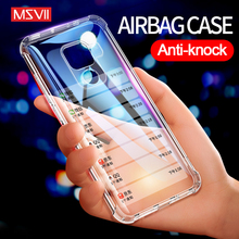 MSVII Silicone Cases for Huawei Mate 20 Pro Case Transparent Cover 10 Soft Coque Environmental TPU