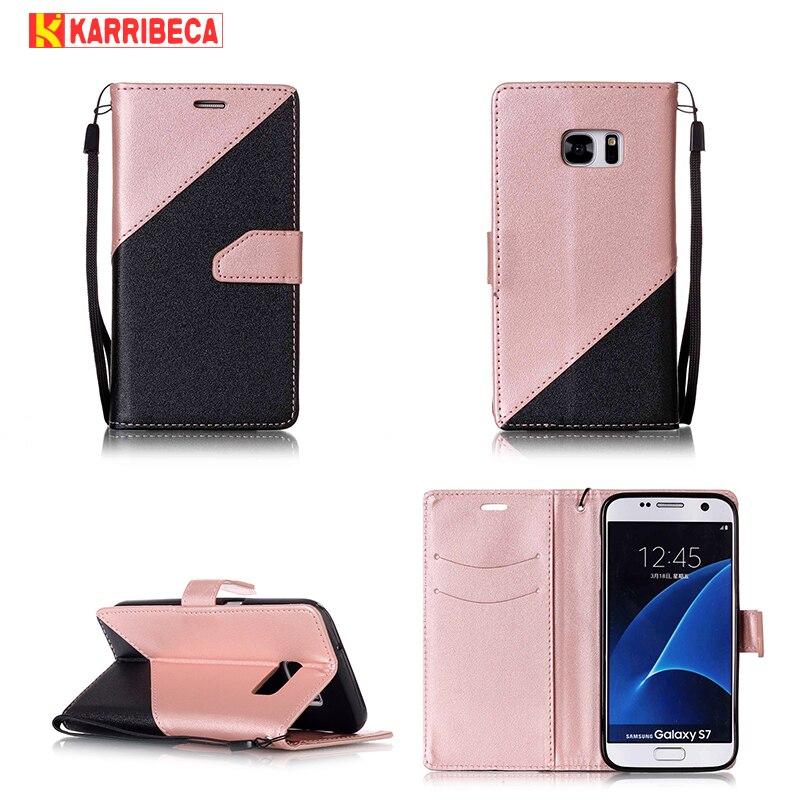 Flip PU kožená pouzdra pro Samsung Galaxy S7 edge case funda duální barvy peněženka krycí taška S7 edge carcasa coque etui kryt tok