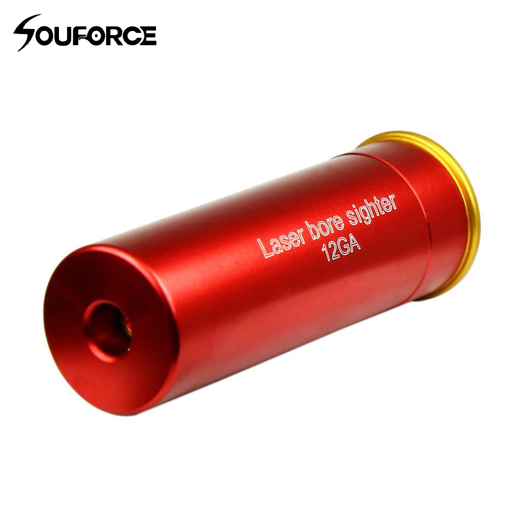 US CAL: 12 GA cartouche Laser alésage vue point rouge alésage vue cuivre rouge avec 20mm diamètre pistolet accessoire pour la chasse