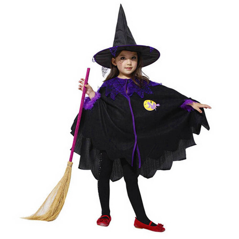 2018 Novelty Toddler Kids Baby Girls Boys Halloween Clothes Costume Dress Party Cloak+Hat Outfit Fashion Cool P5