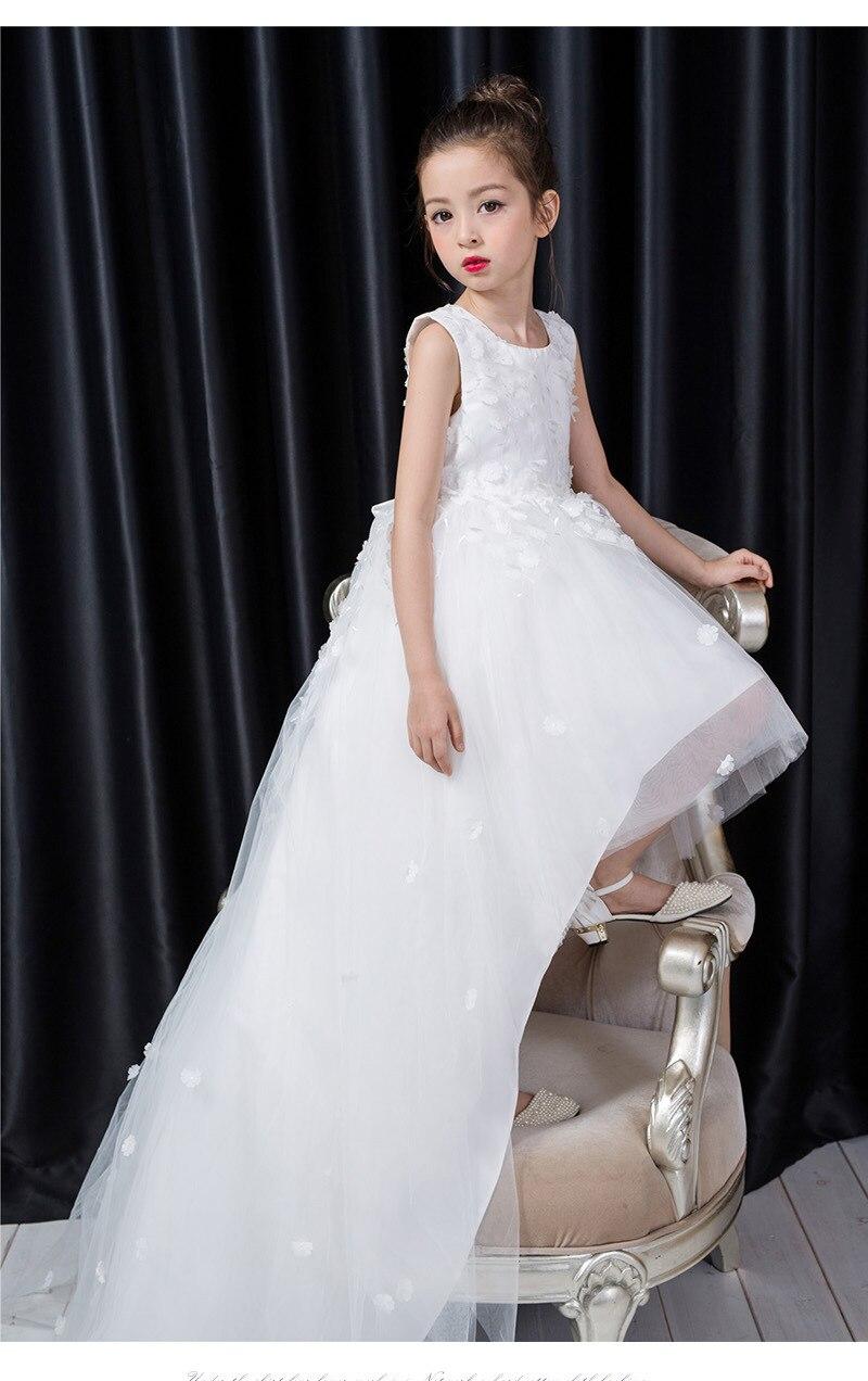 Free Shipping Retail Girl Dresses Children Dress Party Princess Baby Girl Wedding Dress Birthday Christmas White 1291 2017 free shipping hot retail
