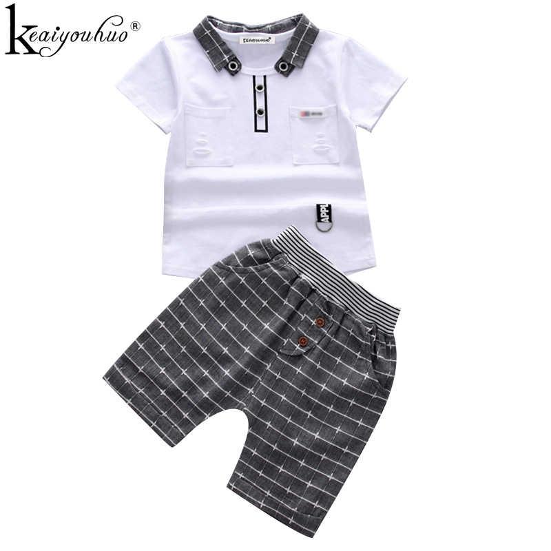 95a6e2a6 2019 Summer Boy Clothes Sets Short Sleeve Sport Suit Toddler Boy Clothes  Children Clothing Outfits Suit