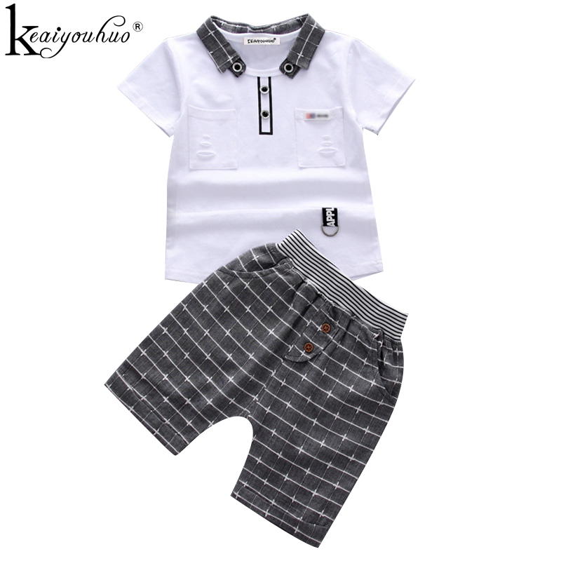 2019 Summer Boy Clothes Sets Short Sleeve Sport Suit Toddler Boy Clothes Children Clothing Outfits Suit Costume For Kids Clothes