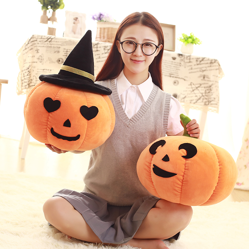 1pc 14/45cm Kawaii Pumpkin Plush Toys Creative Halloween Plush Gifts Kids Love Dolls Kawaii Pumpkin Pillow