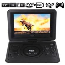 Портативный Компактный dvd-плеер ЕС Plug 13,9 дюймов HD tv фильмы LCD мобильный поворотный usb-накопитель Вращение экрана для автомобиля Мульти Медиа Видео игры