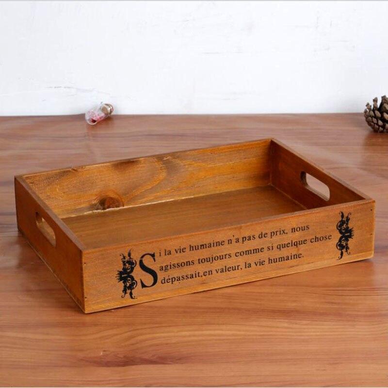 Vintage retro wooden storage cabinet wood tray treasure for Vintage wooden storage boxes