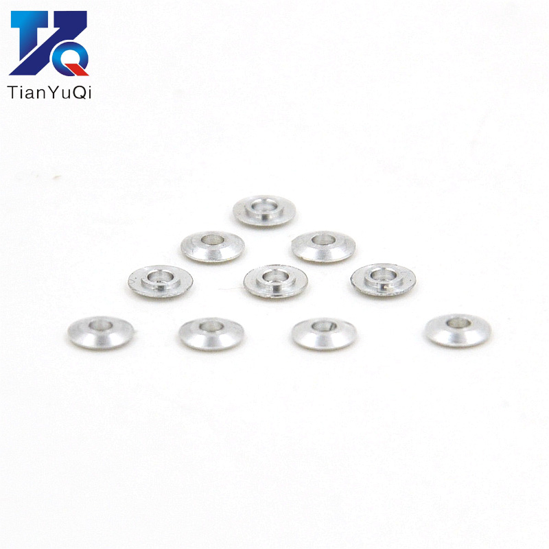 100pcs/lot Mini Metal Washer Gasket shim spacers for 520 ball bearing <font><b>guide</b></font> wheel Roller 94768 spare parts for Tamiya 4WD RC <font><b>Car</b></font> image