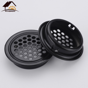 Myhomera 6pcs Wardrobe Cabinet Mesh Hole Air Vent Core Vents Convex Flat Louver Ventilation Cover Stainless Steel 19mm/25mm/53mm
