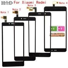 โทรศัพท์มือถือ Touch Screen Glass สำหรับ Xiaomi Redmi หมายเหตุ 1 หมายเหตุ 2 หมายเหตุ 3 หมายเหตุ 4 5A หน้าจอสัมผัสเลนส์ Sensor Touch หน้าจอแผง Digitizer