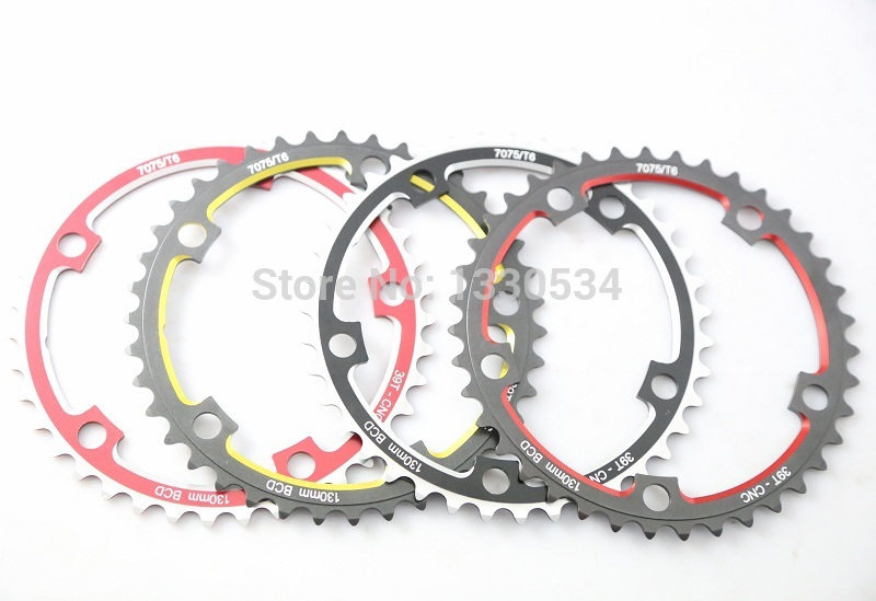 Driveline 7075 aluminum CNC 39T tooth disc 130BCD crankset chainrings dental plate gear wheel