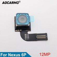 Aocarmo Módulo de cámara trasera, Cable flexible para Google, para Huawei Nexus 6P, cámara grande principal