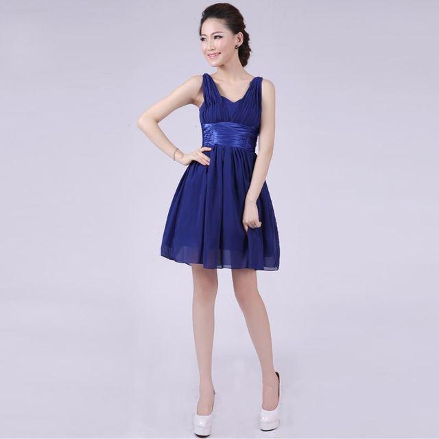 T016 6 diseños azul marino vestido de dama vestido corto de novia de la  boda de d58338d82ee1