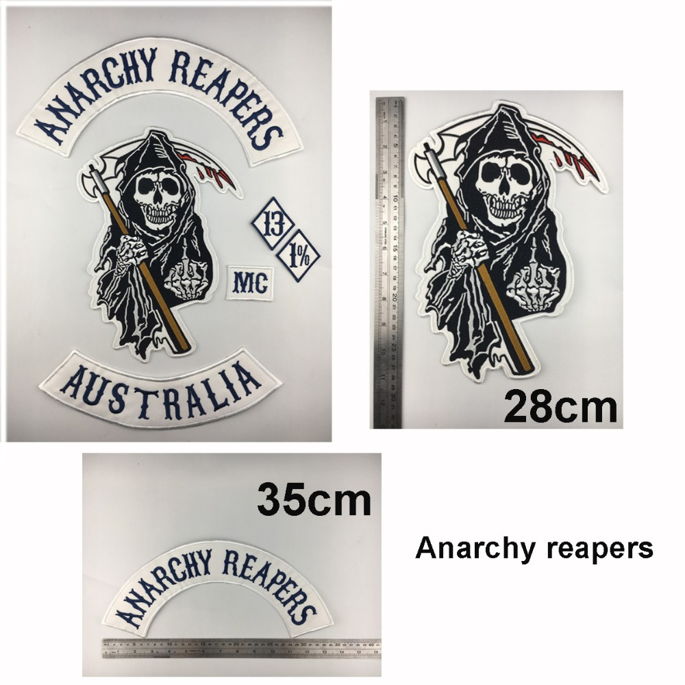 anarchy SON OF out law Reaper Rider EMBROIDERED 9 INCH  MC BIKER  PATCH