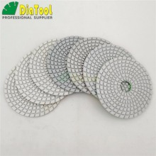 7pcs/set 4 diamond wet flexible polishing pads White bond (8 grits available) resin