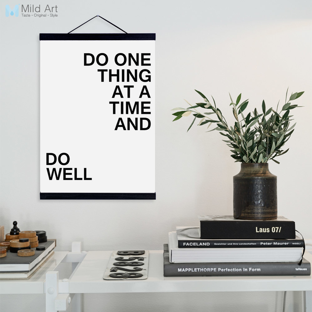 Aliexpress buy modern minimalist black white motivational aliexpress buy modern minimalist black white motivational quotes wooden framed canvas painting home decor wall art print pictures poster hanger from jeuxipadfo Image collections