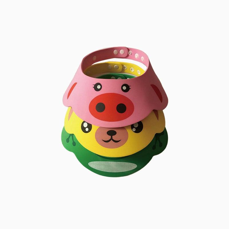 1pcs EVA Resizable Bath Shower Hair Wash Baby Shampoo Cap Hat Bathing Protect Cap For 40-55CM Head Circumference Kids Baby цена