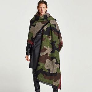 Image 5 - POBING Brand Winter Scarf Women Leopard Cashmere Scarves Wraps Basic Acrylic Wram Shawls Female Blanket Tassel Scarf Lady Stoles