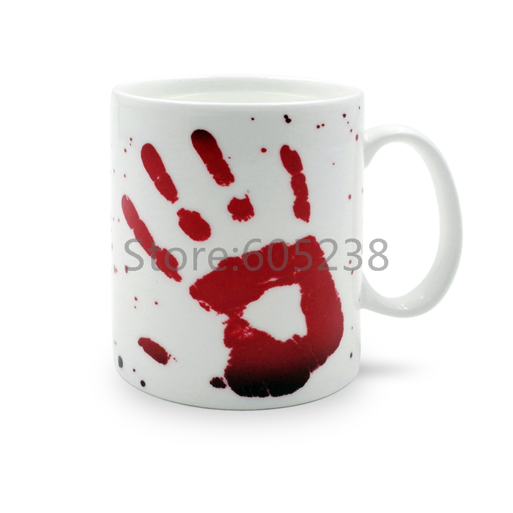 popular designer coffee cupsbuy cheap designer coffee cups lots  - piece give me five bloody hand color changeing multifunction mug thernalblood stain design ceramic coffee