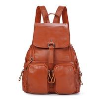 Nesitu High Quality Fashion Brown Black Blue Red Genuine Leather Cute Women Backpacks Female Girl Backpack Lady Travel Bags M1
