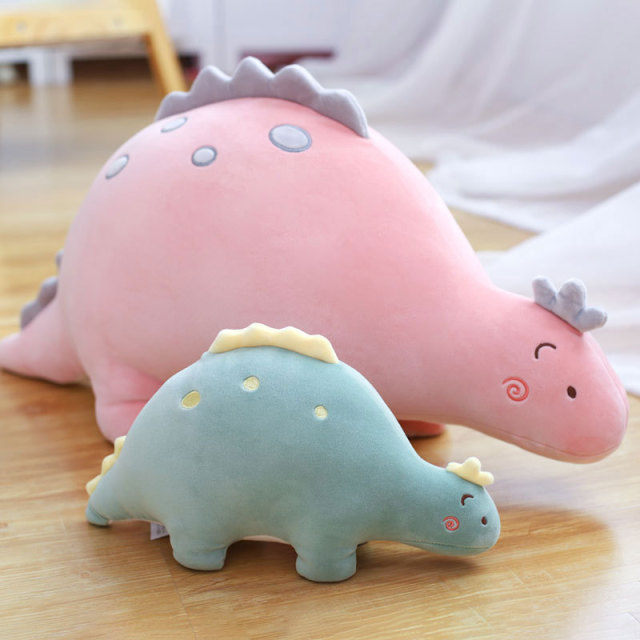 cute dinosaur plush toys creative large dinosaurs doll pillow baby dragon plush for kids pink yellow green spinosaurus child toy