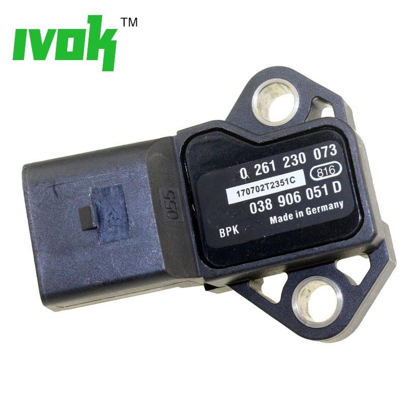Manifold Absolute Turbo Boost Pressure MAP Sensor 038906051D For VW SKODA Octavia Superb Yeti 1.8 2.0 RS TSI T 2008-2016