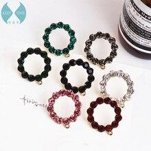 Ritoule DIY handmade jewelry diamond ring earrings accessories Korea alloy hanging pendant pendant earrings earrings materials