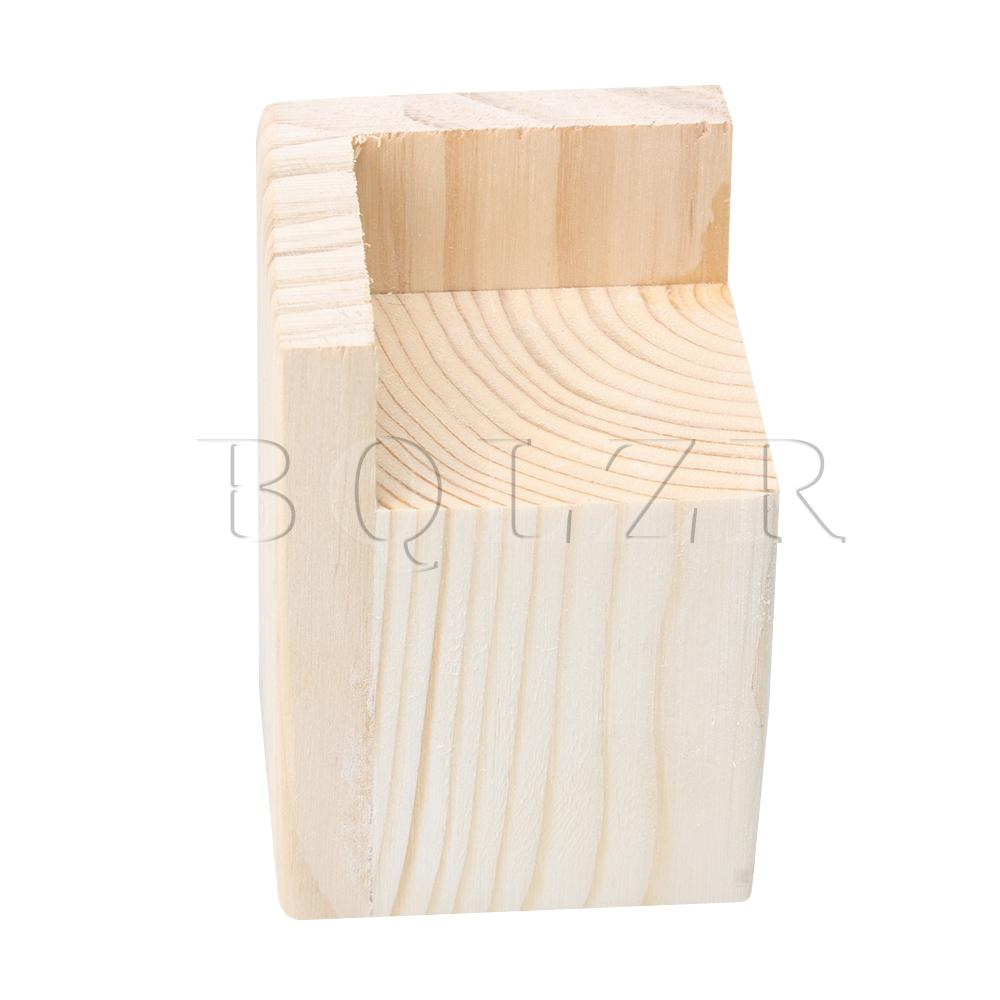 BQLZR 6cm Inner Length 8cm Inner Height Wooden Color Pine Wood Furniture Leg Riser For Cabinet Table Chair Bed Sofa Feet Lift