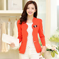 White women blazer 2016 new spring and autumn slim thin outerwear one button ol long-sleeve short female blazer suit