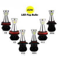 2x 45W H8 H10 H9 H11 9005 9006 H7 LED Fog Lamp 12V Car Daytime Driving