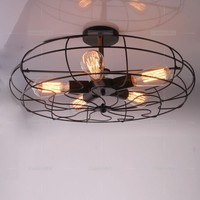 2014 מכירה חמה מדינה אמריקנית בסגנון לופט תעשייתי 5 מאוורר חשמלי אורות תקרה לבר מלון e27 110 - 240 v