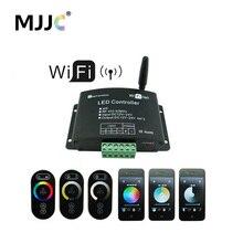 Сенсорный Wifi светодио дный RGB светодиодный контроллер 12 В в В 24 В 12A приложение Android RF беспроводной Wifi диммер контроллер для RGB CT одноцветная Светодиодная лента