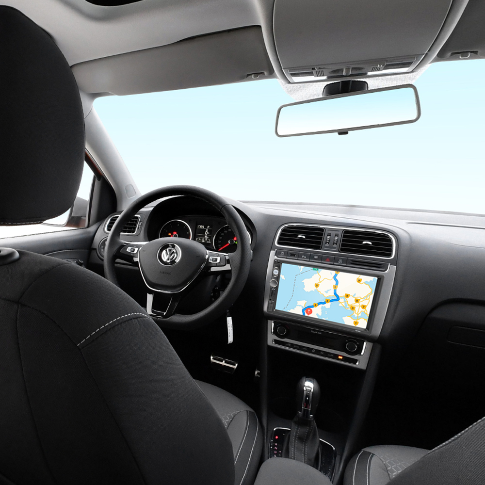 Podofo 2 din Car Radio 7 GPS Navigation audio Radio Bluetooth Autoradio MP5 Player Multimedia USB SD Multimedia Rear View Camera (7)