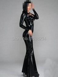 100%Latex Rubber Gummi .45mm Dress Long Catsuit Suit Buckle long dress