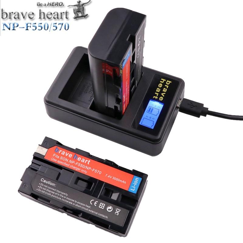 USB charger 4x bateria NP F570 NP F550 NP F330 NP F550 NP