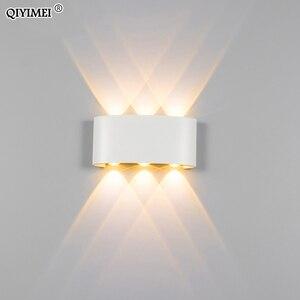 Image 3 - 白黒壁ランプアルミランプシェード照明器具ベッドサイド、リビングルームライトAC85 260Vウォームまたはクールホワイト照明