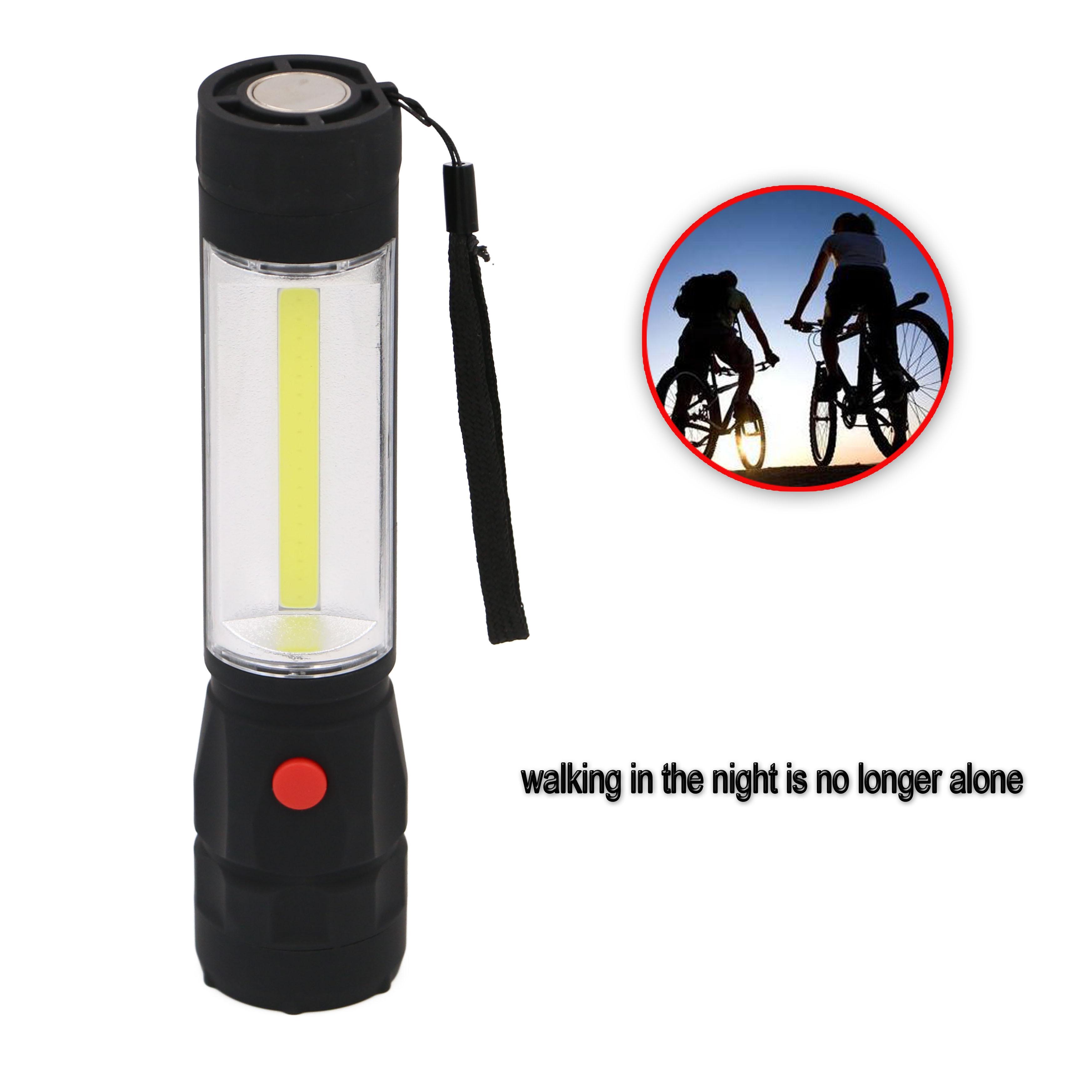 Portable 2 LED COB Handheld Flashlight Work Light lamp ...