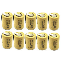 10/lot  High quality battery rechargeable sub 4/5 SC Ni-Cd 1.2 v with tab 1200 mAh for Electric tool