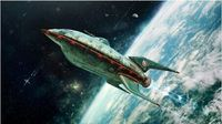 Futurama Space Poster Canvas Print 50x75cm Free Shipping