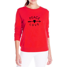 PEACE & LOVE Fleece Jumper